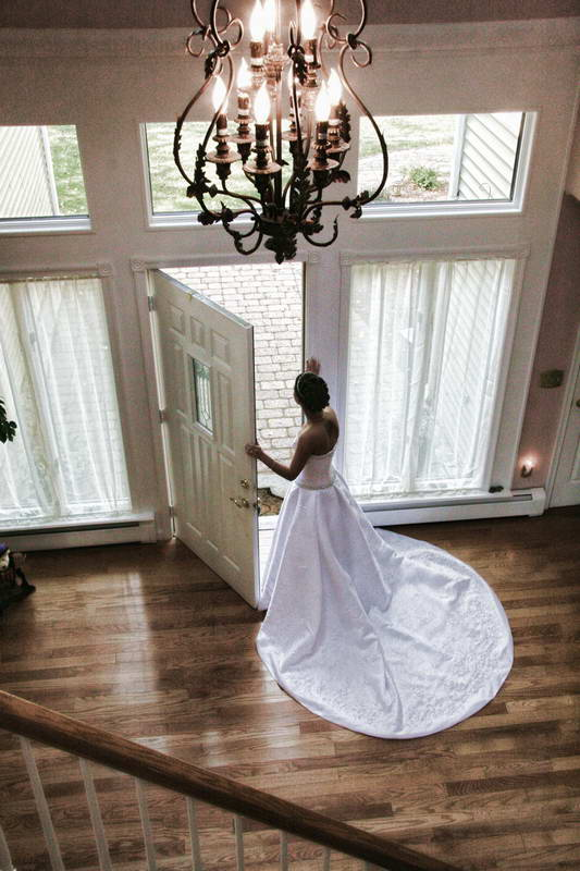 Bride at Door,New Jersey Photography